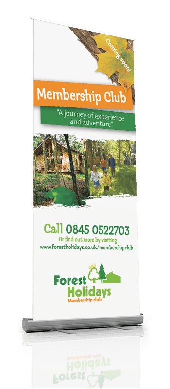 Forest Holidays Rollup Banner