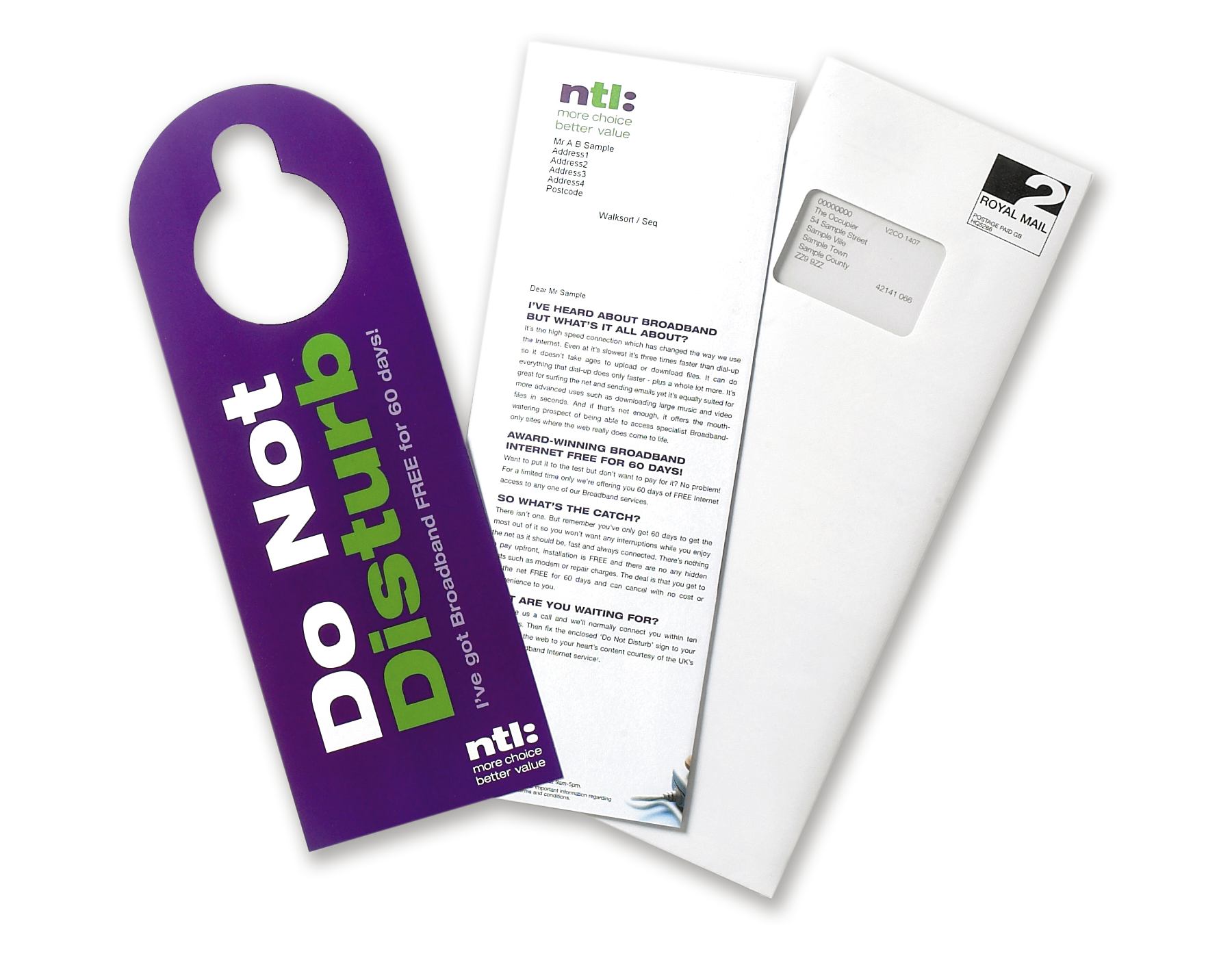 NTL Do Not Disturb Direct Mail