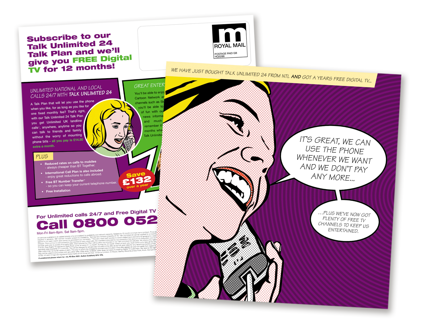 NTL Pop Art Direct Mail