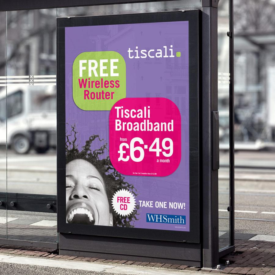 Tiscali WHSmith Poster
