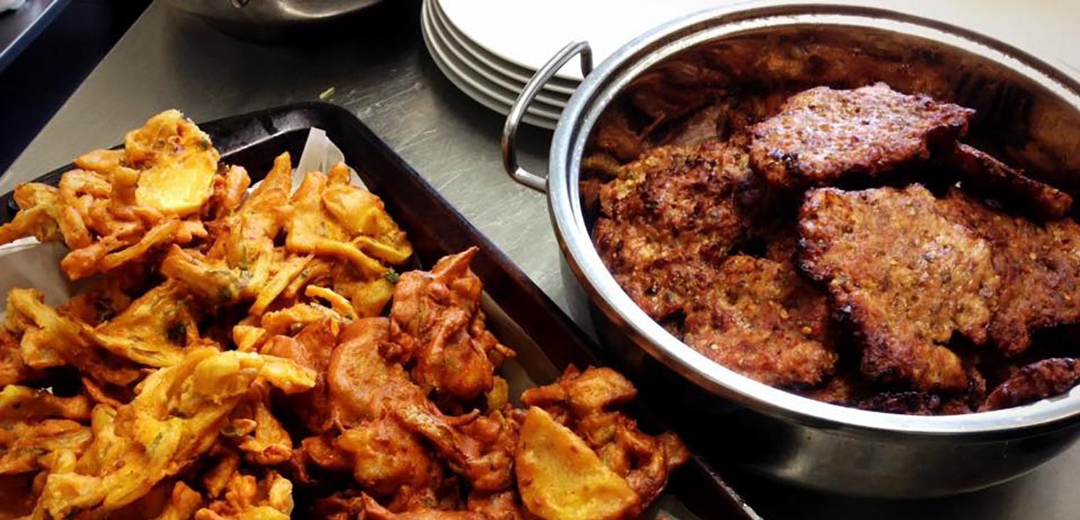 Bhajis and kebabs by Ootys